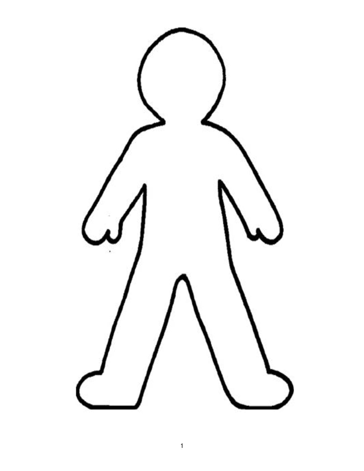 person template preschool - man outline funkypedagogy
